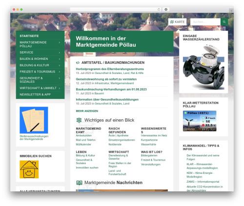 TownPress best WordPress template - marktgemeinde-poellau.at