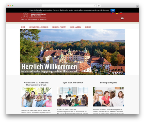 U-Design WordPress theme - marienthal-reisegruppen.de