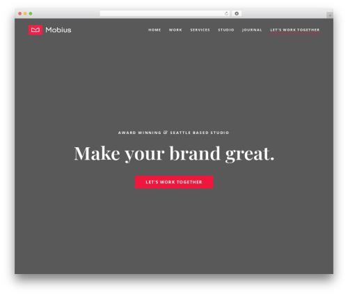 Werkstatt theme WordPress - mobius.agency