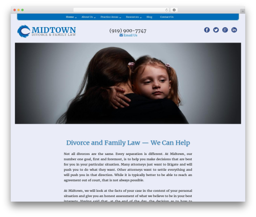 WordPress template Midtown Law - 2016 - midtownfamilylaw.com