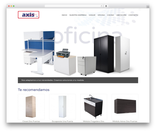 WordPress template Muebles Axis - Storefront Paper Child - mueblesaxis.com