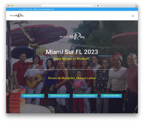 WordPress theme Divi - mariachielrey.com