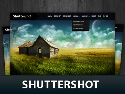 WordPress theme Shuttershot