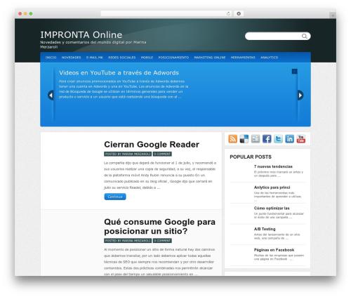 WordPress website template Calypso - marinamerzaroli.com