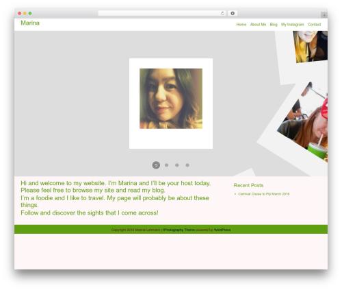 WordPress website template fPhotography - marinalehmann.com