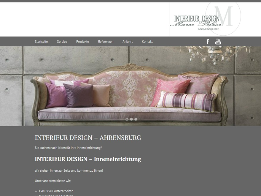 wordpress website template marco pelzer interieur design