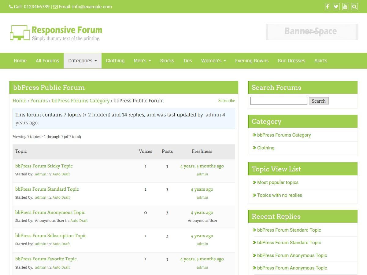 WP theme Responsive Forum
