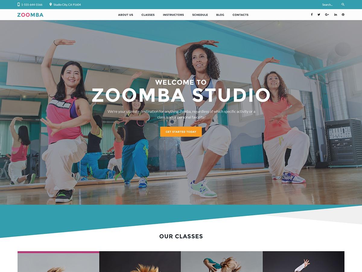 Zoomba WordPress template