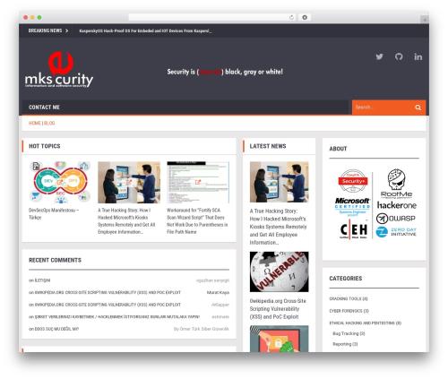 Ad Mag-Lite template WordPress free - muratkaya.com.tr