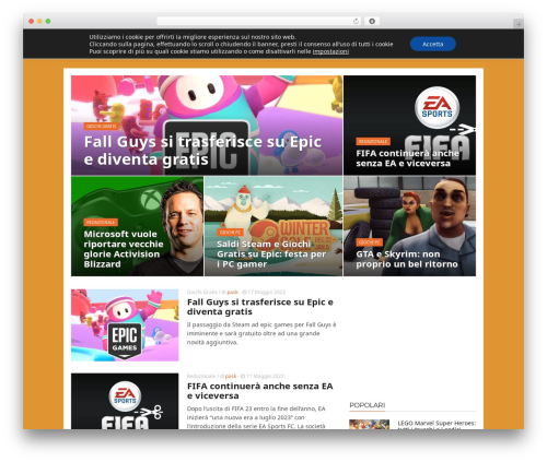 ADMAG newspaper WordPress theme - mondogamesblog.com