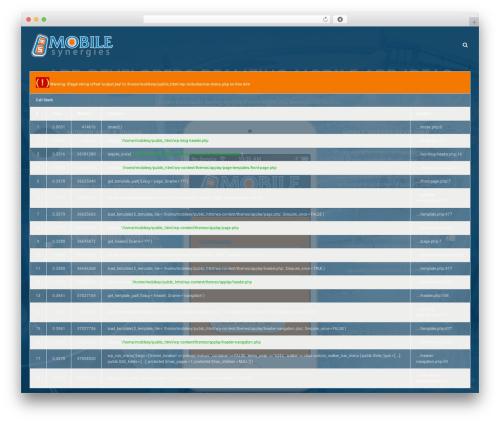 Applay WordPress template - mobilesynergies.com