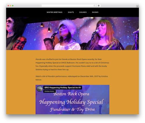 Argent WordPress template free - mickmondo.com