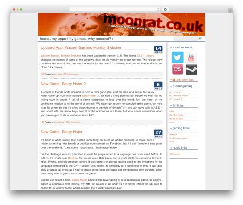 Best WordPress theme Cleanfrog - moonrat.co.uk