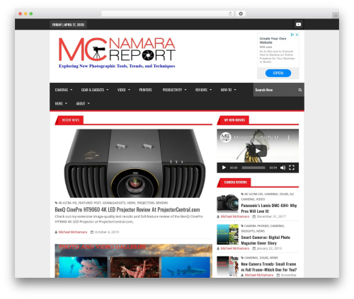 Best WordPress theme Lineza - mcnamarareport.com