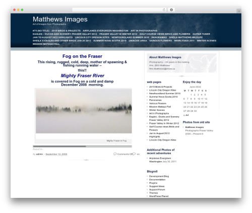 Free WordPress Site Table of Contents plugin - matthewsimages.ca