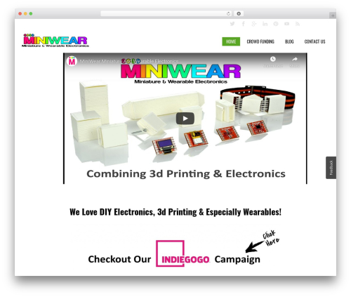 Creativo 4.0 top WordPress theme - miniwear.biz