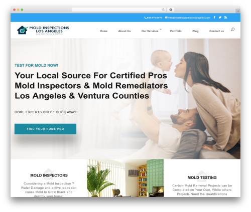 Divi best WordPress template - moldinspectionslosangeles.com