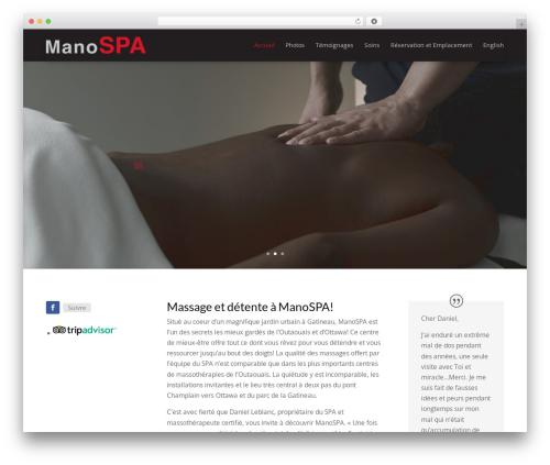Divi best WordPress theme - manospa.com/fr