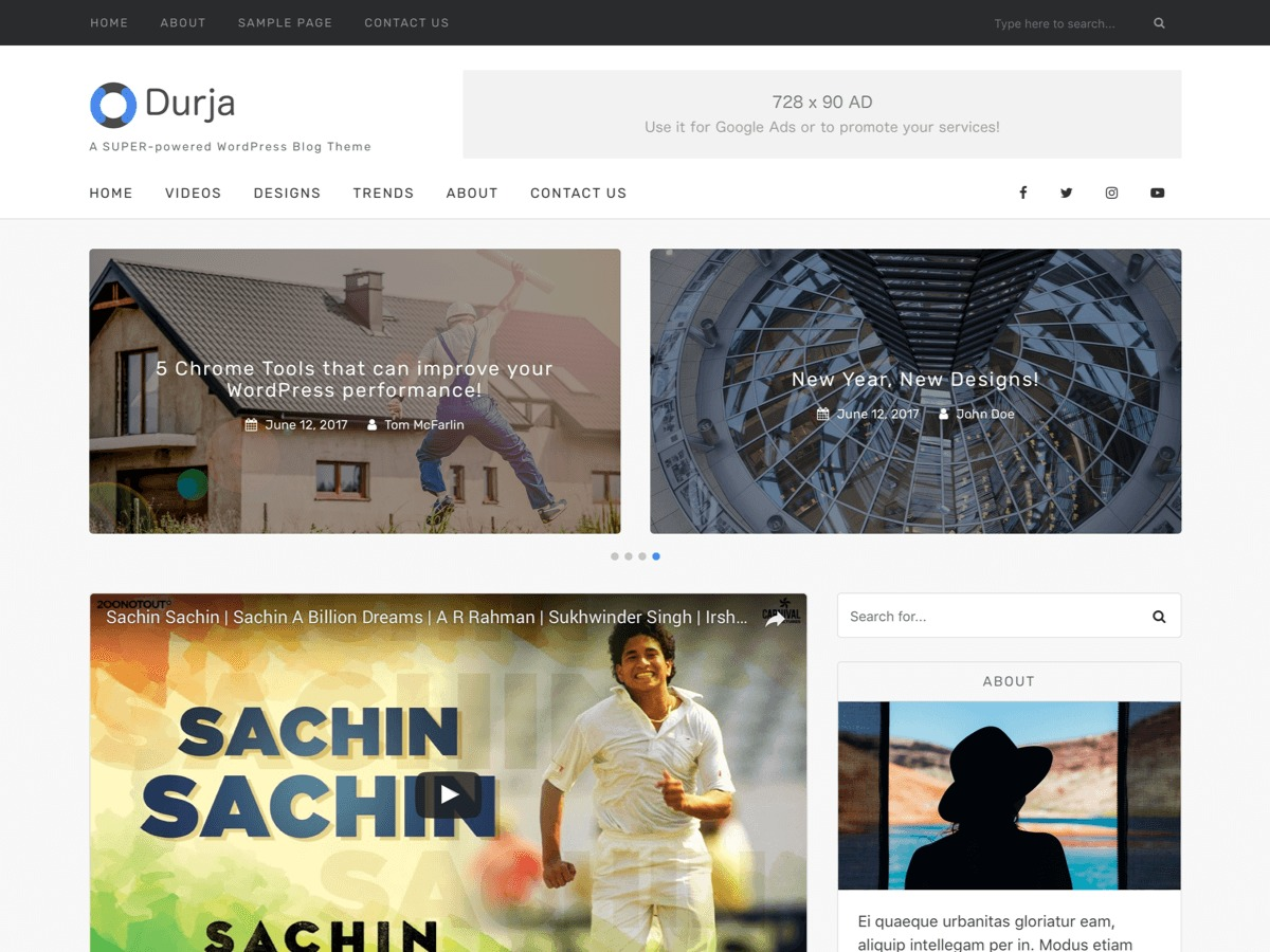 Durja business WordPress theme