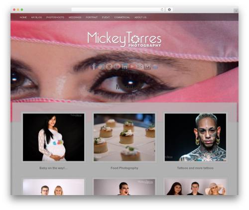 Fifteen Plus template WordPress - mickeytorresphotography.com