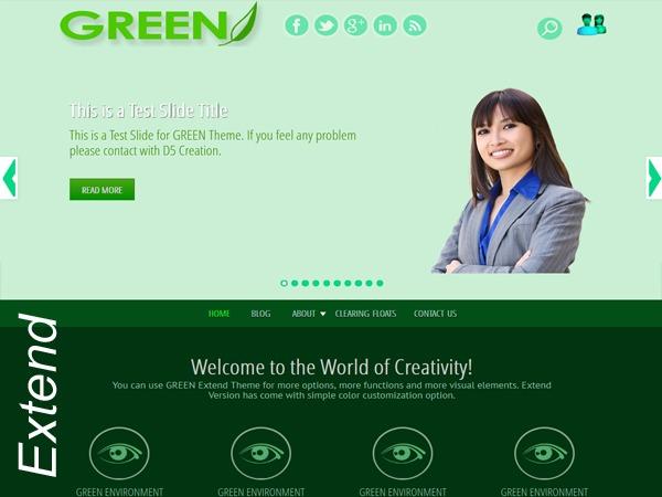 GREEN EYE Extend company WordPress theme