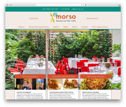WordPress menufication plugin - morso-nyc.com