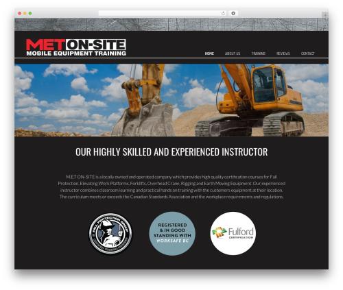 Make free WordPress theme - metonsite.com