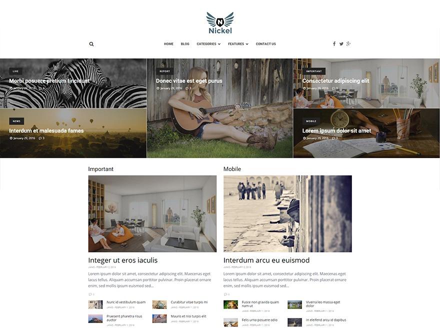 Nickel WordPress theme