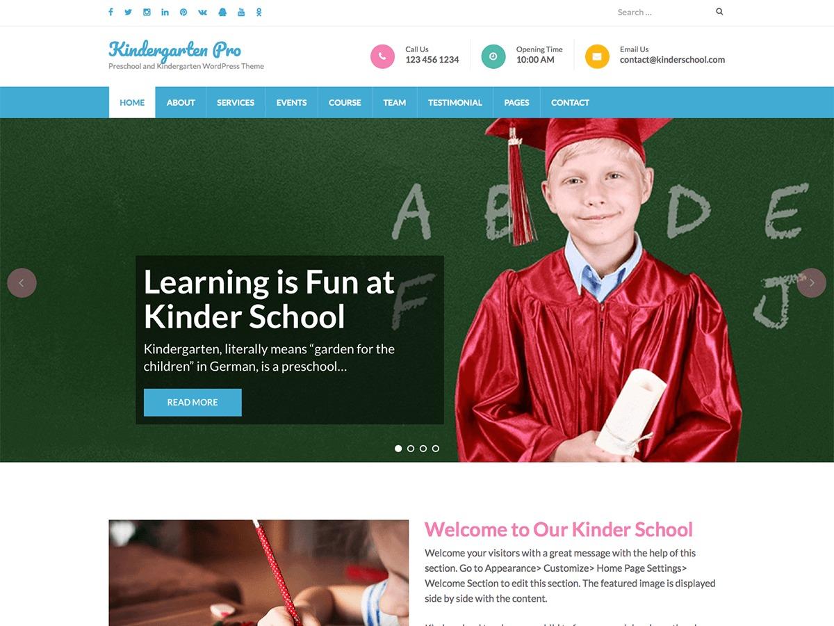 Preschool and Kindergarten Pro WordPress gallery theme