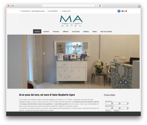 PurePress WordPress website template - mahotel.it