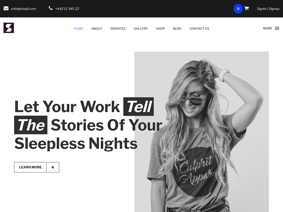 Simpli WordPress blog template