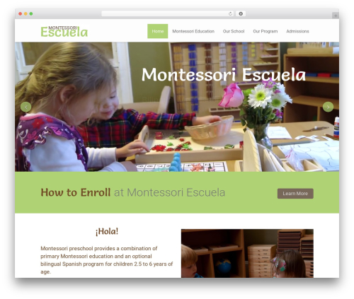 Theme WordPress Kiddie - montessoriescuela.com