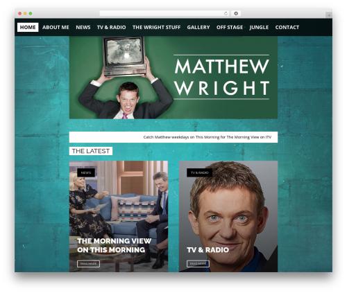 Toniq theme WordPress - matthewwrightofficial.com