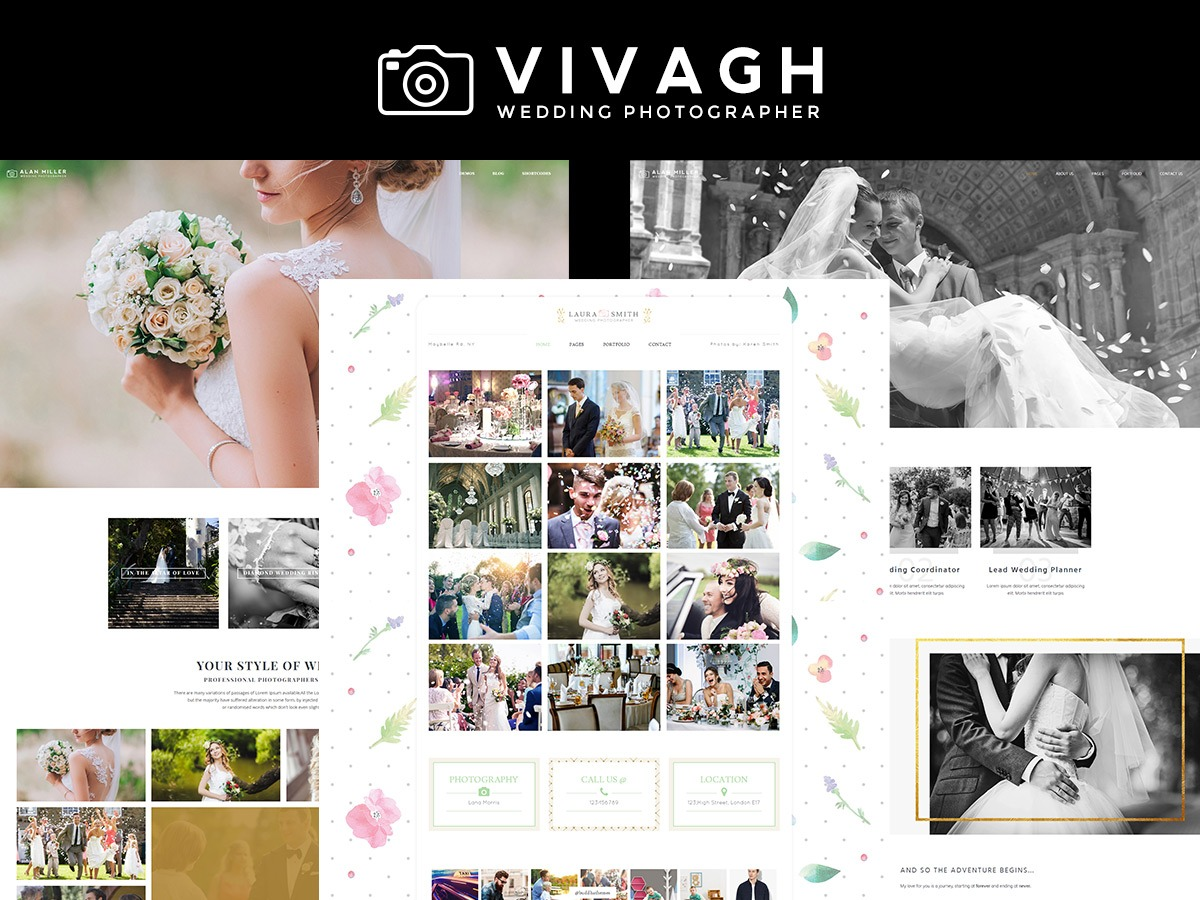 Vivagh best wedding WordPress theme
