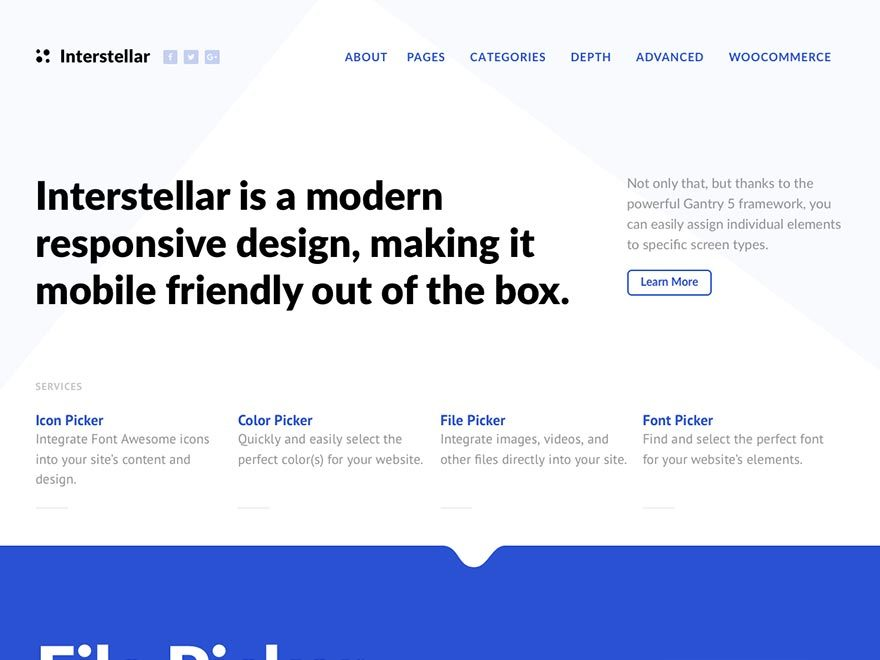 WordPress theme Interstellar