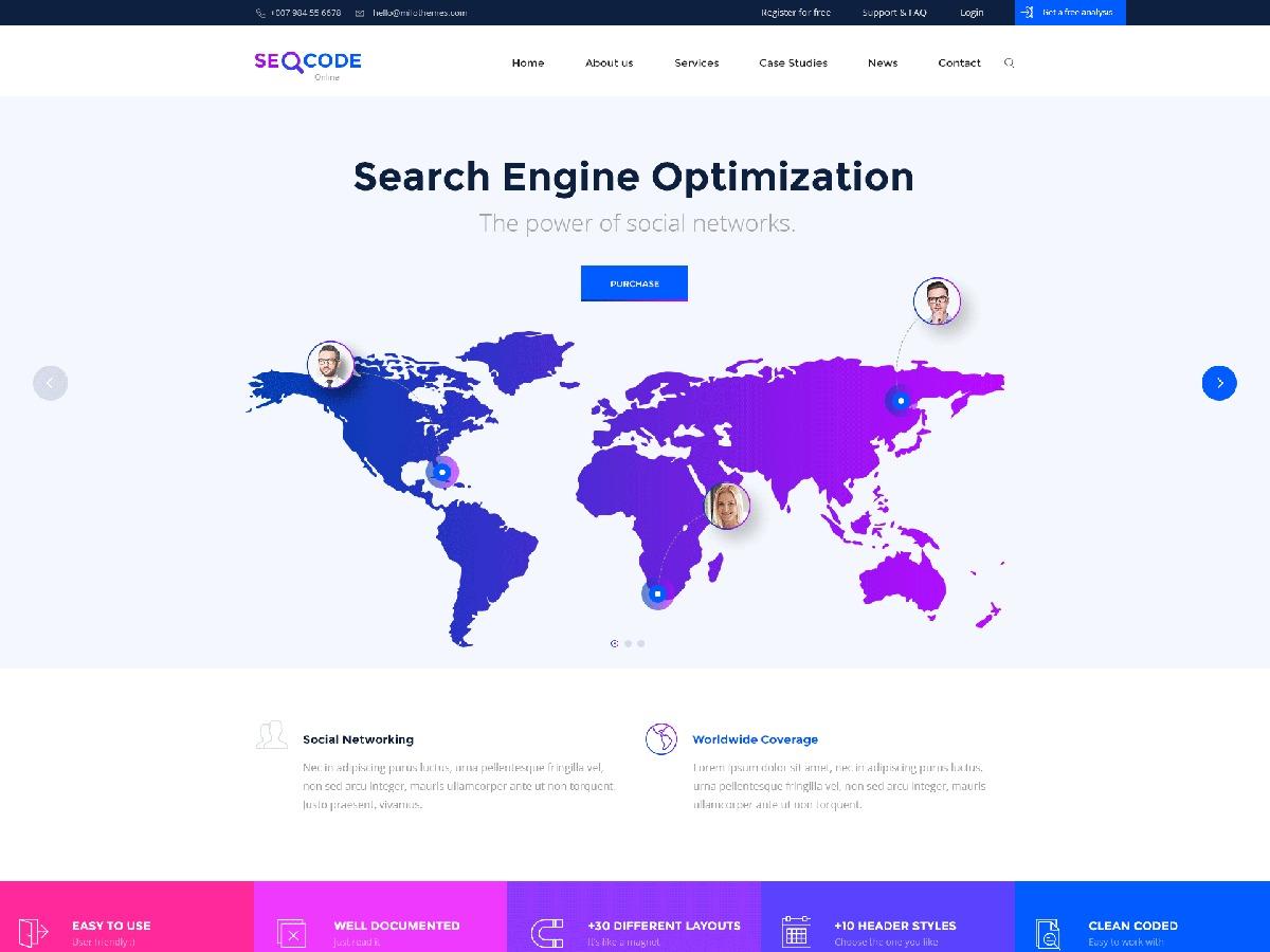 WordPress theme Seocode