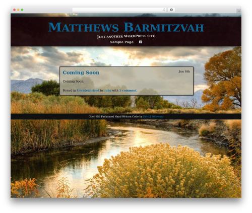 Adventure WordPress theme - matthewsbarmitzvah.com