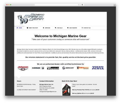 Aegaeus WordPress page template - michiganmarinegear.com