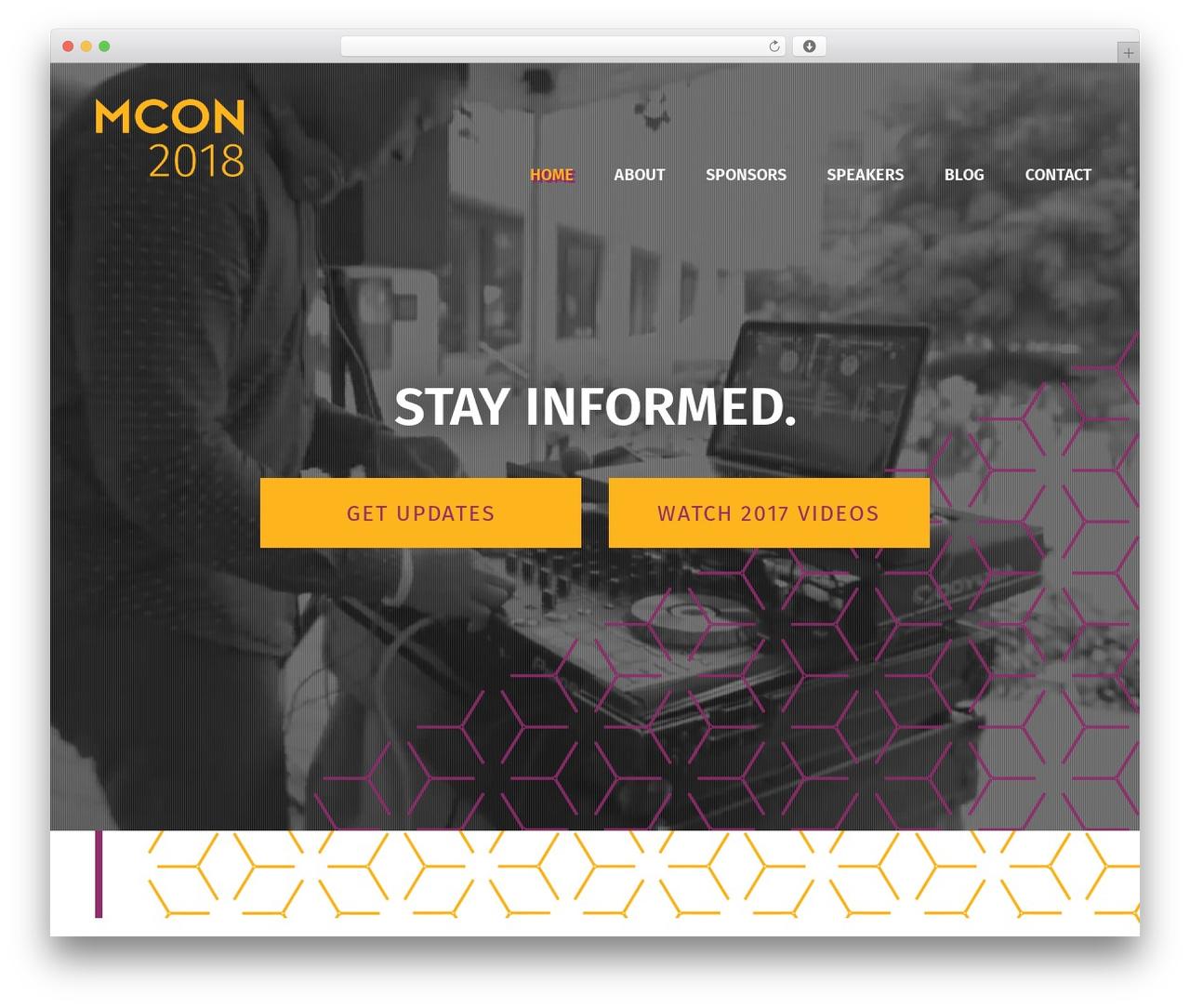 Best WordPress theme Jupiter - mcon.events