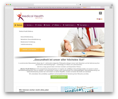 Clockwork WP template WordPress - mh-mallorca.com