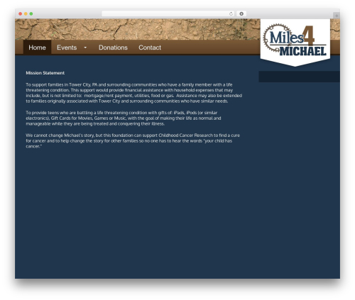 GeneratePress premium WordPress theme - miles4michael.com