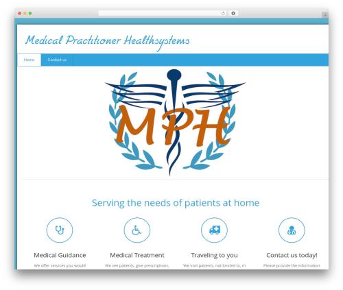 Health-Center-Lite free WP theme - main.mphcares.com