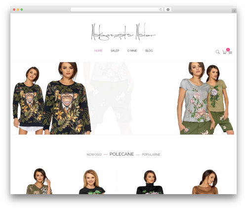 Kute Boutique WordPress template - malgorzatamaier.pl