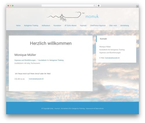 Match free WordPress theme - momuk.ch