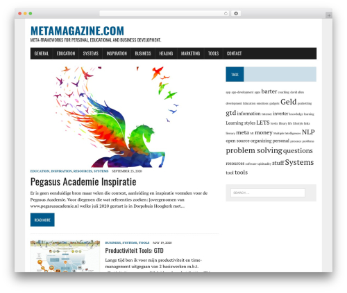 MH Newsdesk lite template WordPress - metamagazine.com