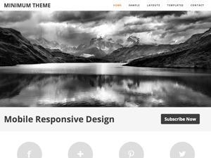 Minimum Child Theme template WordPress