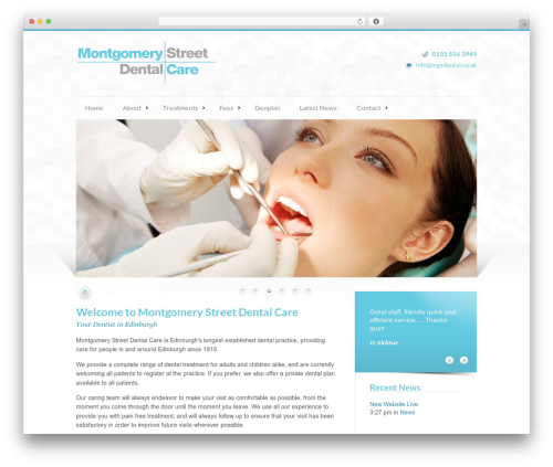 Modulo WordPress template - mgsdental.co.uk