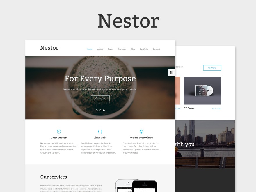 Nestor Child Theme best portfolio WordPress theme