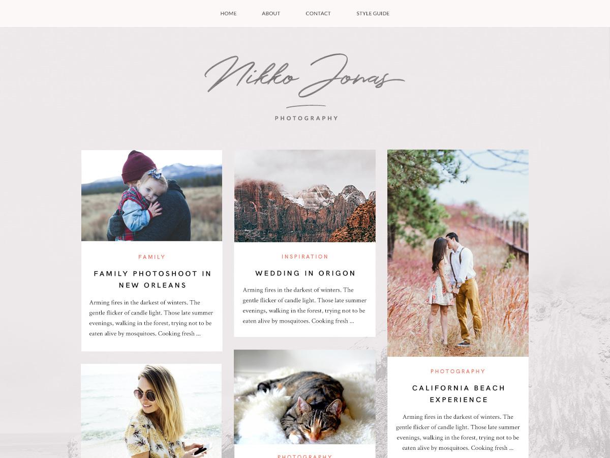 Nikko Portfolio theme WordPress portfolio