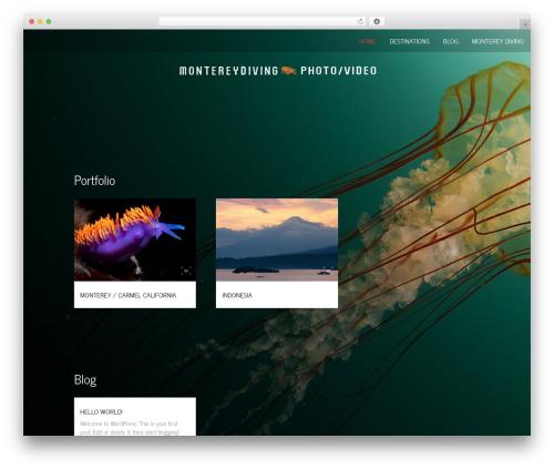 Onesie Pro WordPress theme design - montereydiving.com